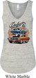 Ladies Dodge Blue and Orange Super Bee Flowy V-neck Tank Top