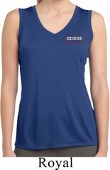 Ladies Dodge Brothers Pocket Print Sleeveless Dry Wicking Shirt