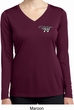 Ladies Dodge Challenger 1974 Pocket Print Dry Wicking Long Sleeve