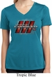 Ladies Dodge Charger RT Logo Moisture Wicking V-neck Shirt