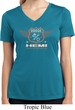 Ladies Dodge Garage Hemi Moisture Wicking V-neck Shirt
