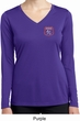 Ladies Dodge Garage Pocket Print Dry Wicking Long Sleeve Shirt