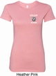 Ladies Dodge Guts and Glory Ram Logo Pocket Print Longer Length Shirt