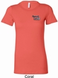 Ladies Dodge Plymouth Cuda Pocket Print Longer Length Shirt