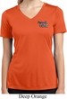Ladies Dodge Plymouth Cuda Pocket Print Moisture Wicking V-neck Shirt