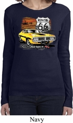 Ladies Dodge Route 66 Charger RT Long Sleeve Shirt