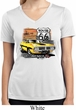 Ladies Dodge Route 66 Charger RT Moisture Wicking V-neck Shirt