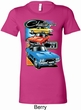 Ladies Dodge Shirt Challenger Trio Longer Length Tee T-Shirt