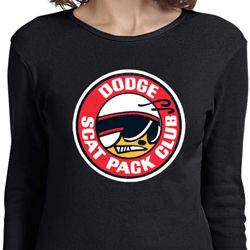 Ladies Dodge Shirt Dodge Scat Pack Club Long Sleeve Tee T-Shirt