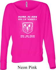 Ladies Dodge Shirt Guts and Glory Ram Logo Off Shoulder Tee T-Shirt