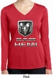 Ladies Dodge Shirt Ram Hemi Logo Dry Wicking Long Sleeve Tee T-Shirt