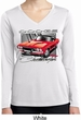 Ladies Dodge Shirt Red Challenger Dry Wicking Long Sleeve Tee T-Shirt