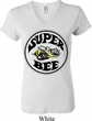 Ladies Dodge Shirt Super Bee V-neck Tee T-Shirt