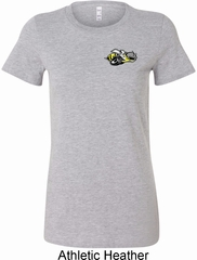 Ladies Dodge Super Bee Logo Pocket Print Longer Length Shirt