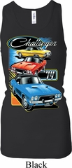 Ladies Dodge Tanktop Challenger Trio Longer Length Racerback Tank Top