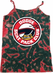 Ladies Dodge Tanktop Dodge Scat Pack Club Tie Dye Camisole Tank Top