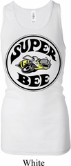 Ladies Dodge Tanktop Super Bee Longer Length Racerback Tank Top