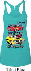 Ladies Dodge Tanktop Vintage Chargers Tri Blend Racerback Tank Top
