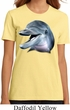 Ladies Dolphin Shirt Big Dolphin Face Organic T-Shirt
