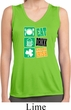 Ladies Eat Drink Be Irish Sleeveless Moisture Wicking Tee T-Shirt