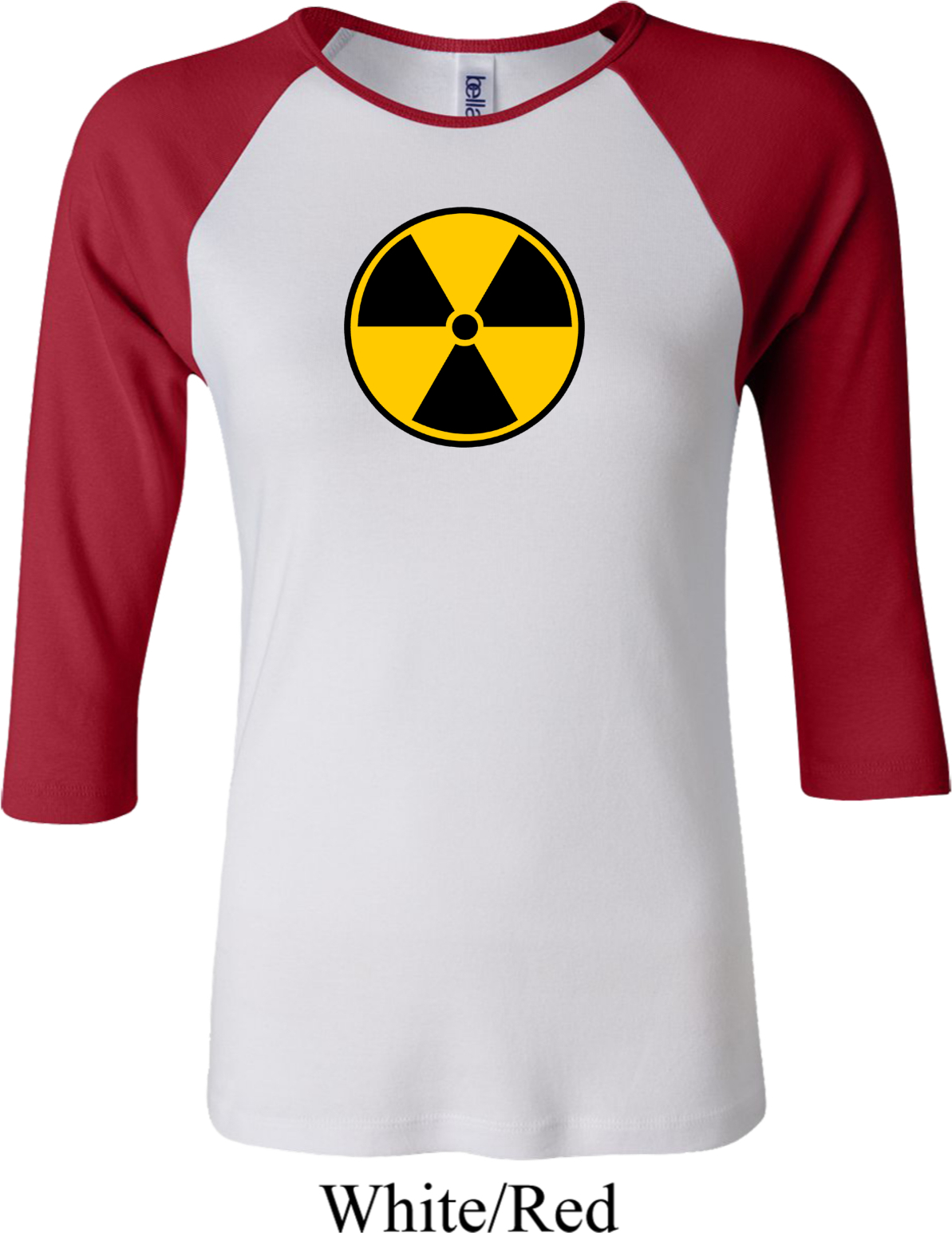 Black or White S - 2XL RADIATION SYMBOL FUNNY T-SHIRT Red