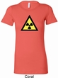 Ladies Fallout Shirt Radioactive Triangle Longer Length Tee T-Shirt