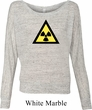 Ladies Fallout Shirt Radioactive Triangle Off Shoulder Tee T-Shirt