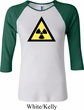 Ladies Fallout Shirt Radioactive Triangle Raglan Tee T-Shirt