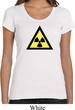 Ladies Fallout Shirt Radioactive Triangle Scoop Neck Tee T-Shirt