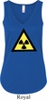 Ladies Fallout Tanktop Radioactive Triangle Flowy V-neck Tank Top