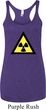 Ladies Fallout Tanktop Radioactive Triangle Tri Blend Racerback Tank