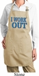 Ladies Fitness Apron I Work Out Full Length Apron with Pockets