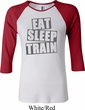 Ladies fitness Shirt Eat Sleep Train Raglan Tee T-Shirt