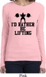 Ladies Fitness Shirt I Rather Be Lifting Long Sleeve Tee T-Shirt