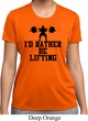 Ladies Fitness Shirt I Rather Be Lifting Moisture Wicking Tee T-Shirt