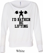 Ladies Fitness Shirt I Rather Be Lifting Off Shoulder Tee T-Shirt