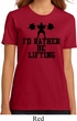 Ladies Fitness Shirt I Rather Be Lifting Organic Tee T-Shirt