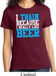 Ladies Fitness Shirt I Train For Beer Tee T-Shirt