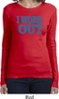 Ladies Fitness Shirt I Work Out Long Sleeve Tee T-Shirt