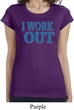 Ladies Fitness Shirt I Work Out Longer Length Tee T-Shirt