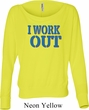 Ladies Fitness Shirt I Work Out Off Shoulder Tee T-Shirt