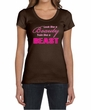 Ladies Fitness Shirt Look Like a Beauty Scoop Neck Tee T-Shirt