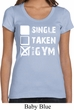 Ladies Fitness Shirt Single Taken At The Gym Scoop Neck Tee T-Shirt