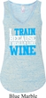 Ladies Fitness Tanktop I Train For Wine Flowy V-neck Tank Top