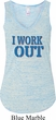 Ladies Fitness Tanktop I Work Out Flowy V-neck Tank Top