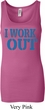 Ladies Fitness Tanktop I Work Out Longer Length Tank Top