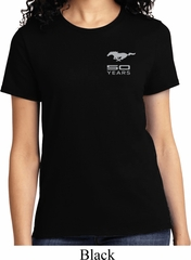 Ladies Ford 50 Years Pocket Print Shirt