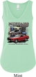 Ladies Ford Classic Mustangs Untamed Flowy V-neck Tank Top