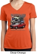 Ladies Ford Classic Mustangs Untamed Moisture Wicking V-neck