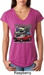 Ladies Ford Classic Mustangs Untamed Tri Blend V-neck